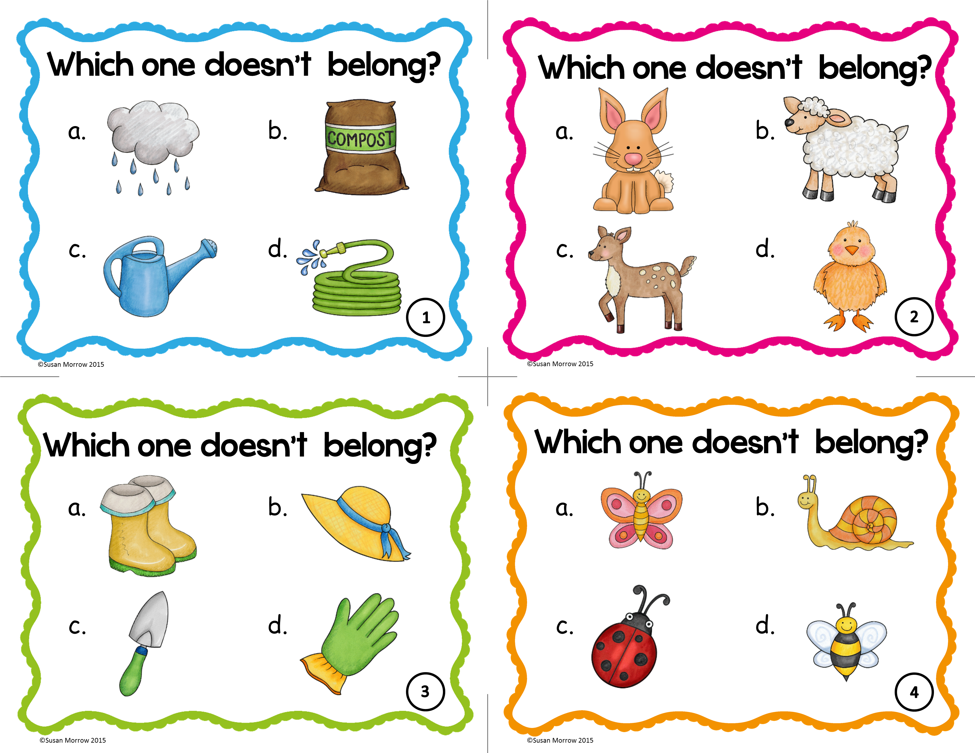 Vocabulary Activities Spring Vocabulary Games Word Sorts