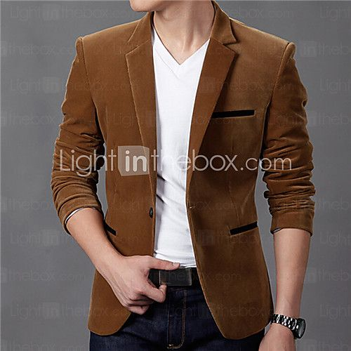 f5d0b28942a Men s Casual Daily   Plus Size Vintage Fall   Winter Blazer