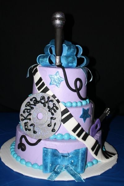 Karaoke Cake By Bethygee On Cakecentral Com Music Cakes
