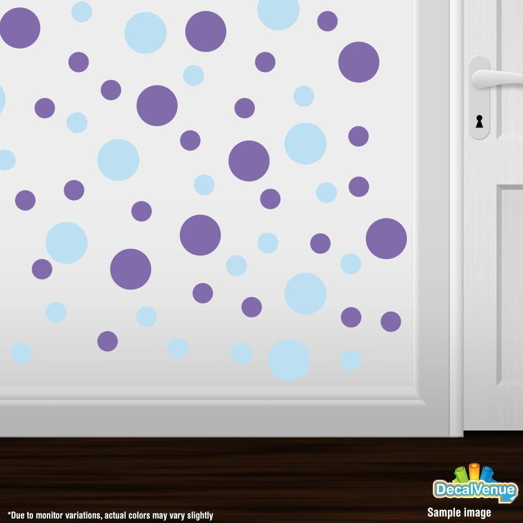 Baby blue lavender polka dot circles wall decals baby blue baby blue lavender polka dot circles wall decals amipublicfo Image collections