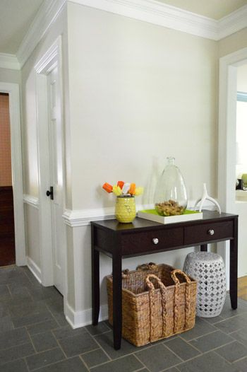 Warm Sand Gray Walls White Trim Natural Textures And Colour Pops I Love This Whole Composition