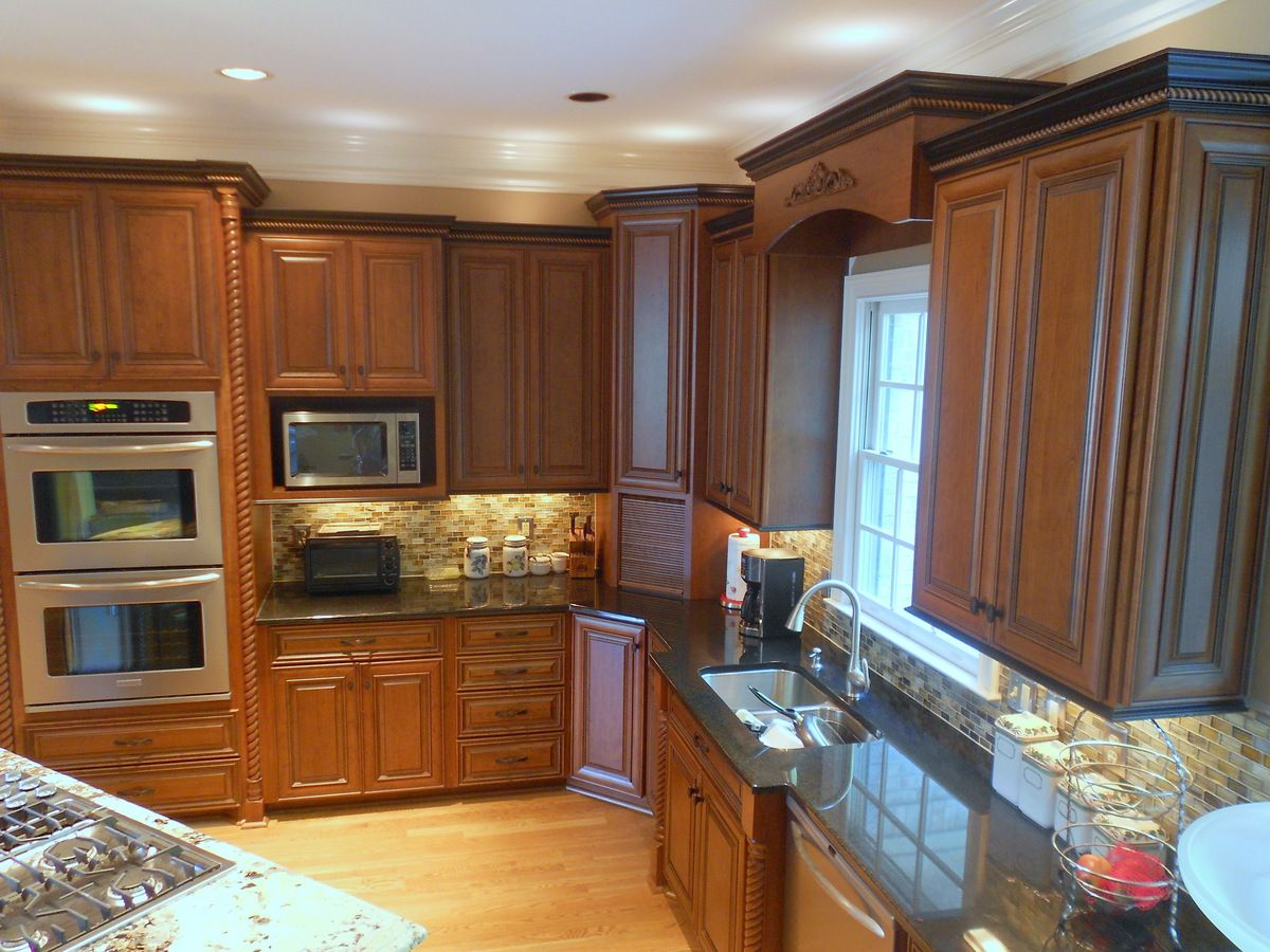 Kitchen Cabinets With Black Trim New Kitchen Cherry Cabinets With And Ebony Glaze And