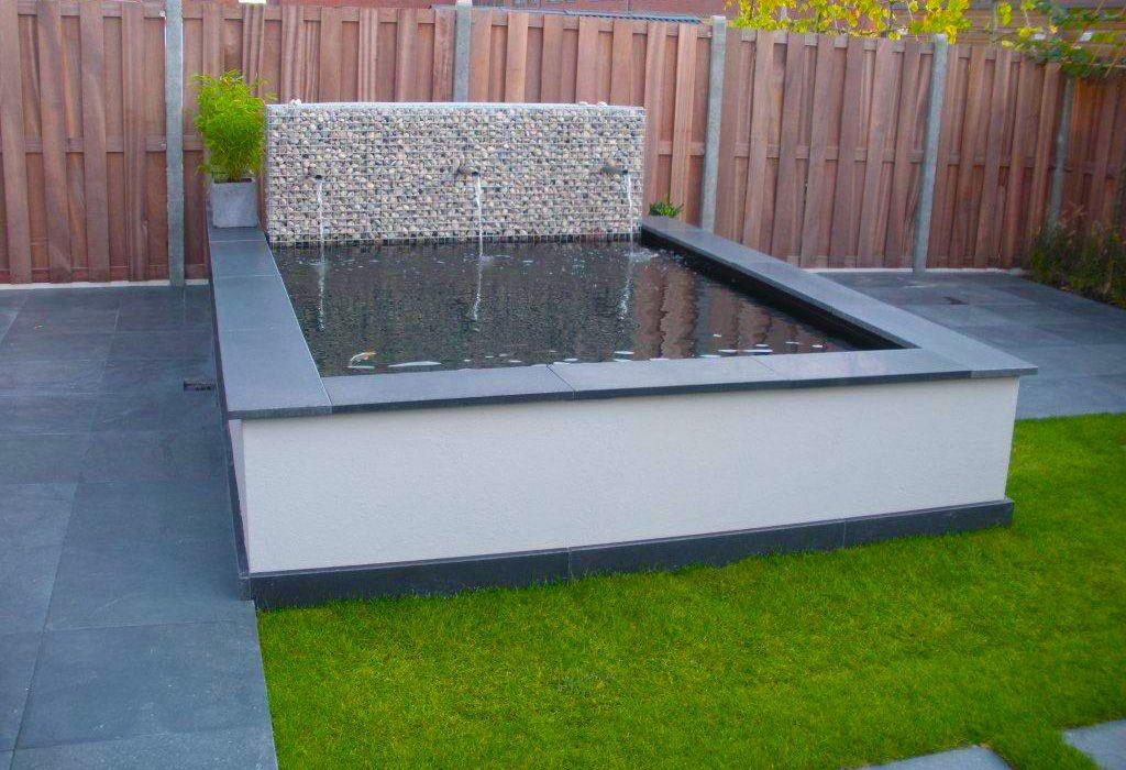 Strakke vijver google zoeken tuin pond garden en koi for Moderne waterpartijen tuin