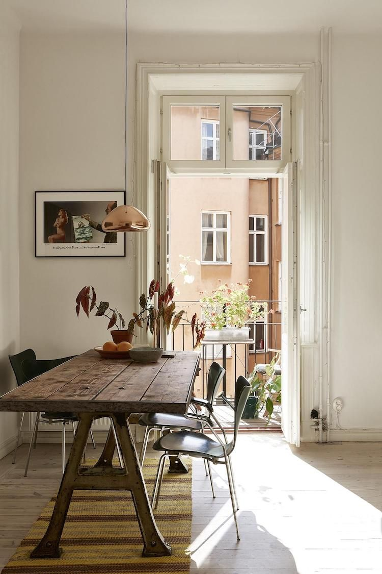My Scandinavian Home A Charming Swedish Home With Pops Of Autumn Hues Scandinavian Dining Room My Scandinavian Home Home Decor Charming scandinavian dining room