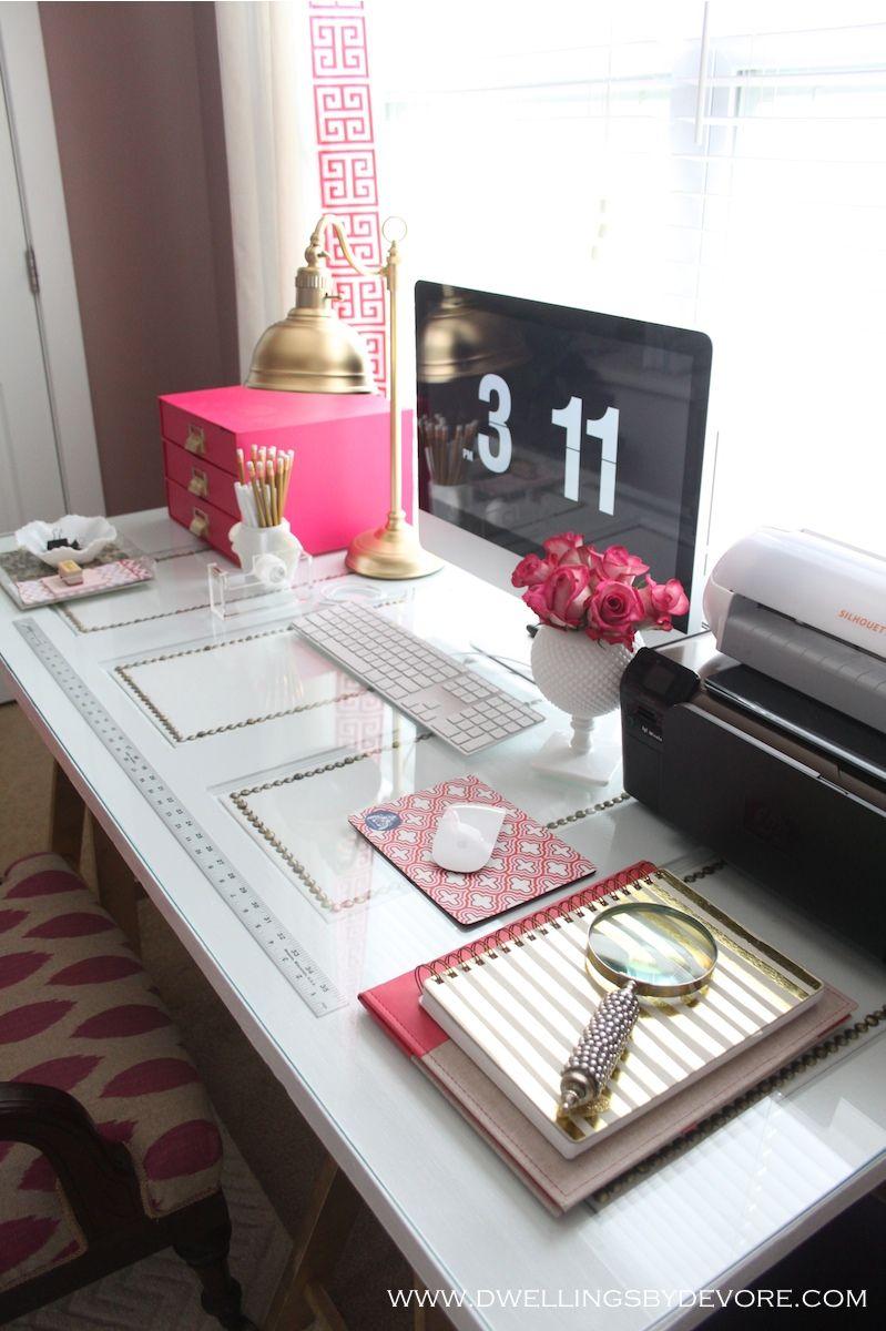 Décorer Son Bureau Au Travail diy nailhead door desk | décor de bureau à domicile
