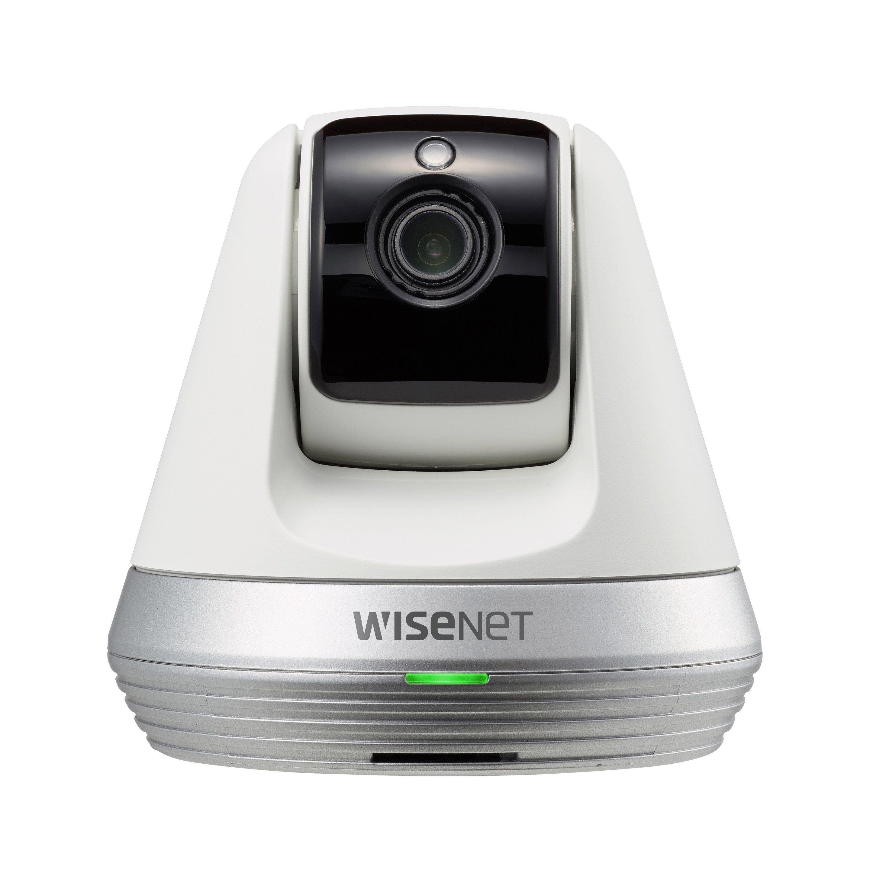 Camera De Surveillance Interieure Connectee Rotative Full Hd Blanc Wisenet Camera Surveillance Camera De Securite Camera