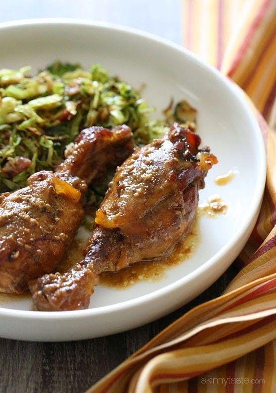 Crock Pot Maple Dijon Chicken Drumsticks #slowcookercrockpots