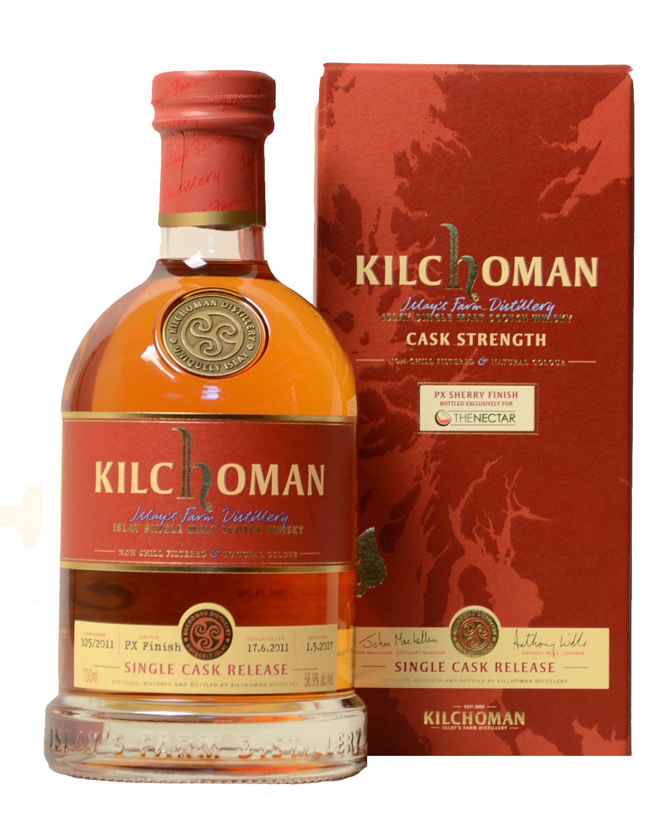 Kilchoman Single Cask Release The Nectar Cask Single Malt Wine Bottle