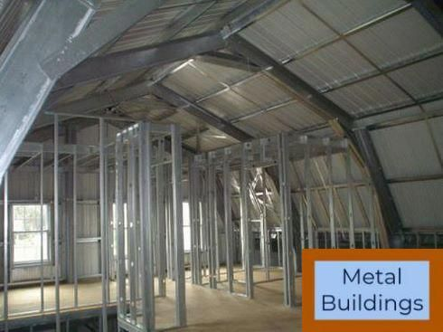 28 X 32 X 12 6 Amp Rdquo Metal Building And Metal Buildings Commercial Home Building Kits Metal Buildings Metal Homes