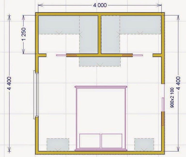 camera da letto con cabina armadio misure