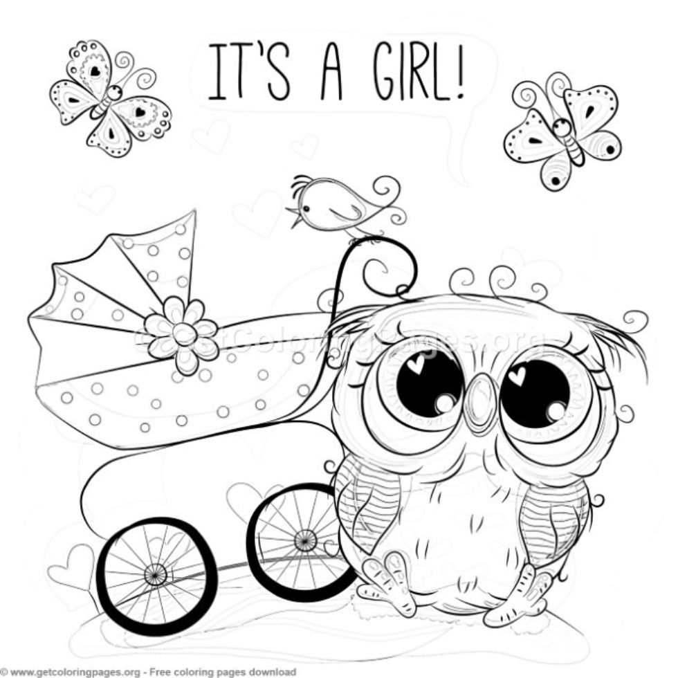 Cute Owl Coloring Pages Free Getcoloringpages Org Owl Coloring