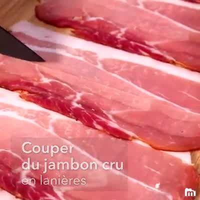 Crottin de chèvre frit au jambon cru