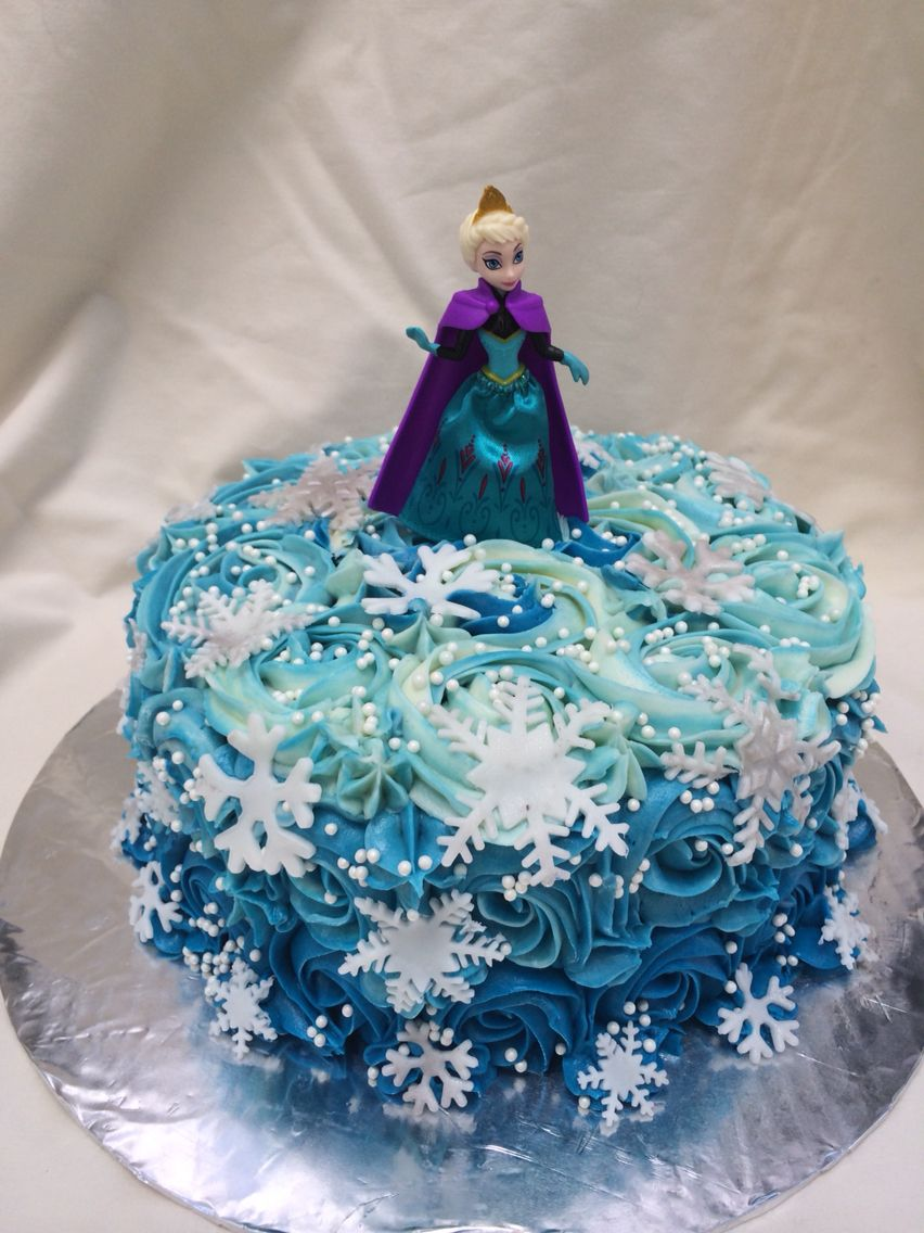 Frozen Elsa Buttercream Rosette Cake By Inphinity Designs Party