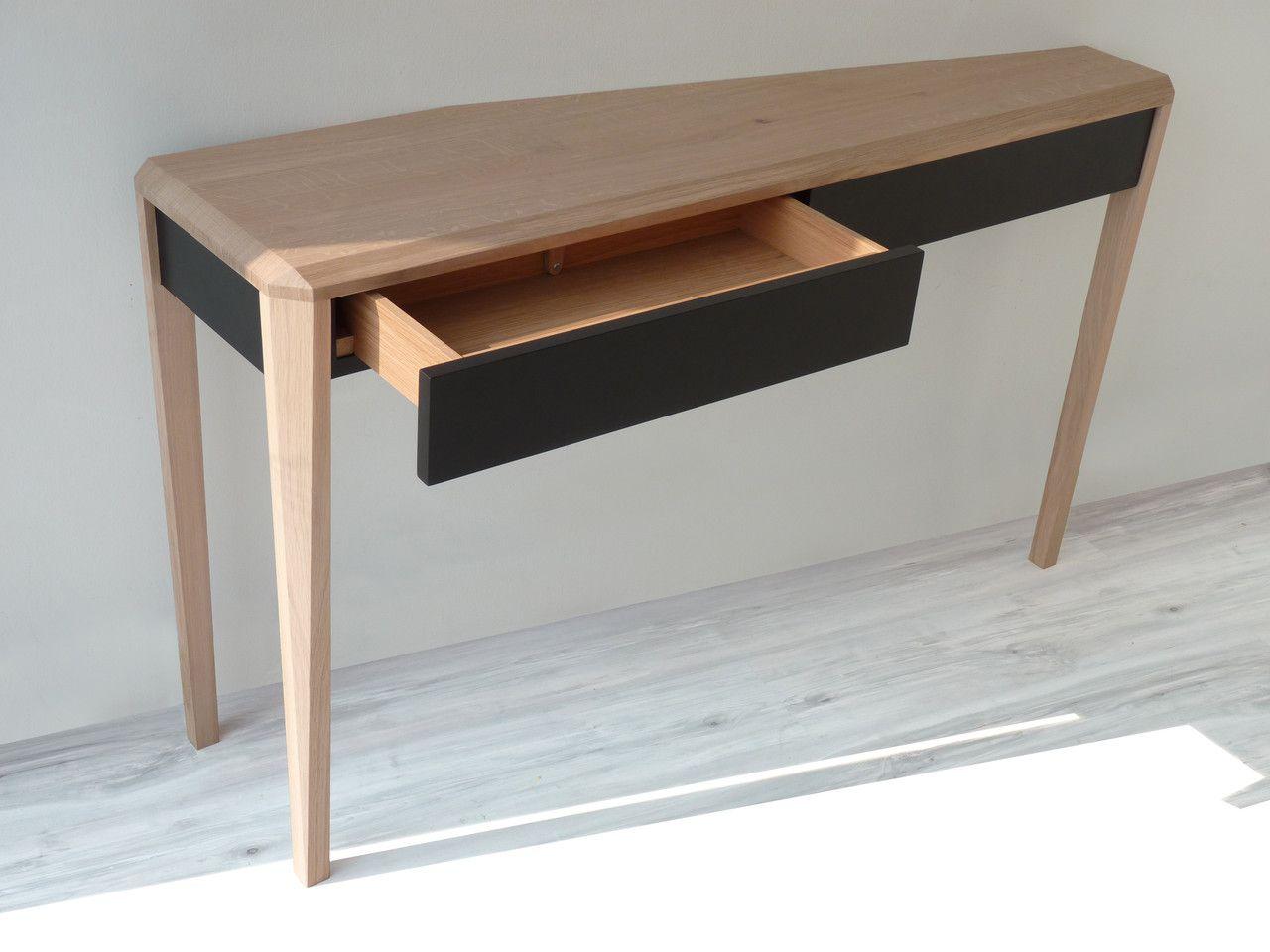 Table Pliante Contre Mur a dreuz (à travers), console à 3 pieds, fixée contre un mur