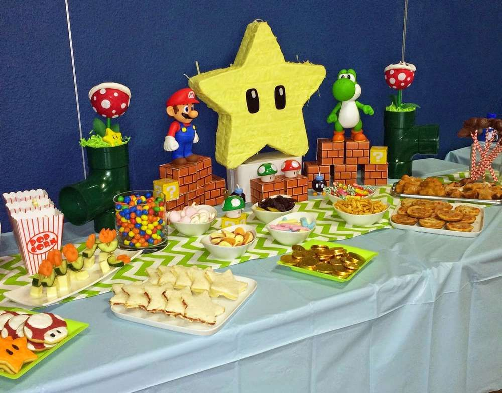Super Mario birthday party! See more party planning ideas at CatchMyParty.com!