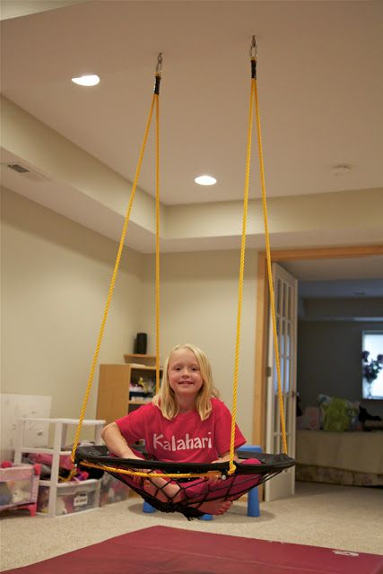 Diy Project Basement Bungee Swing Classroom Organization Decor Kids Basement Playroom