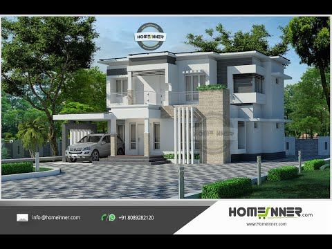 Modern Contemporary 3 Bedroom Villa Design In 5 Cent Plot Youtube Architectural House Plans Kerala House Design Architecture House