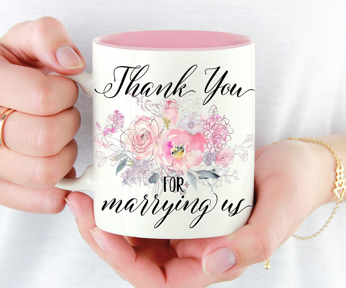 Thank You For Marrying Us Mug, Wedding Officiant Gift