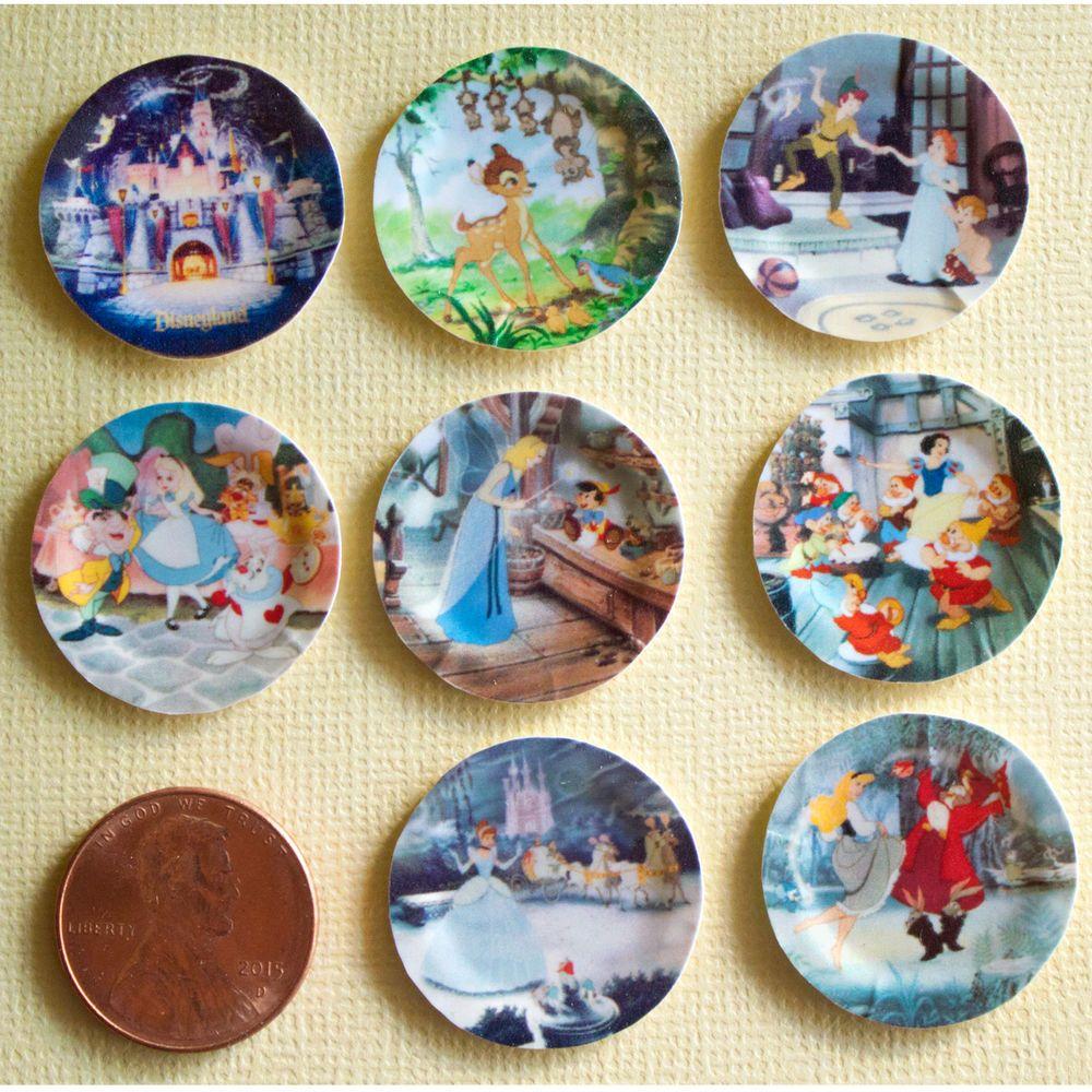 Miniature Disney Paper Plates 112 Scale Alice Bambi Snow White Peter Handmade  sc 1 st  Pinterest & Miniature Disney Paper Plates 1:12 Scale Alice Bambi Snow White ...