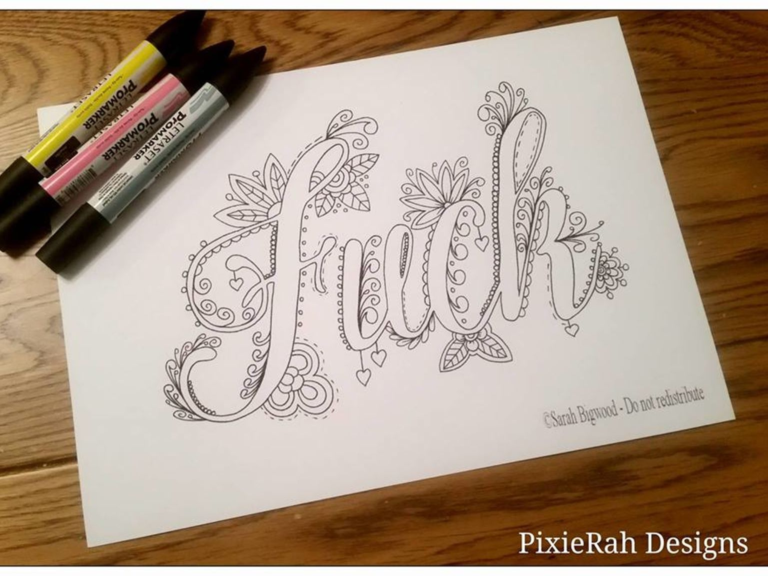 Swear word coloring book sarah bigwood - I Neeeeed This Coloring Book A Fancy Swear Word Colouring Book For Adults For