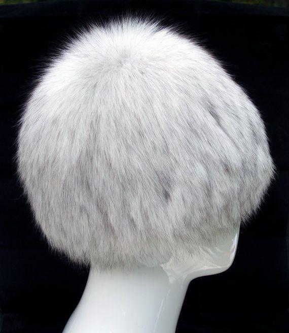 d38b9e422 Russian Designer Fur Wig Hat Polar FOX Knit Acrylic Beanie Style ...