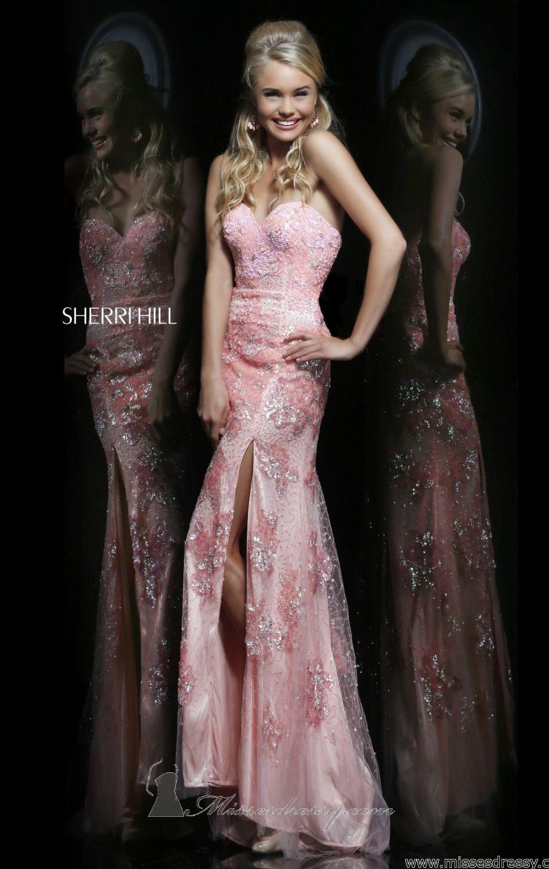 Sherri hill lace wedding dress  Sherri Hill  by Sherri Hill  Pastels  Pinterest  Full length