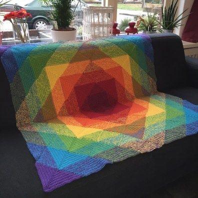 Haakpatroon Regenboog Deken Dekens Häkeln Stricken En Häkeln Muster
