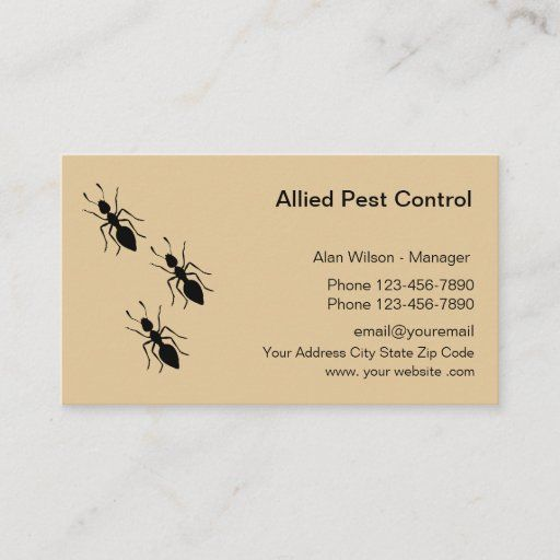 Pest Control Exterminating Services Business Card Zazzle Com Pest Control Services Business Business Card Design