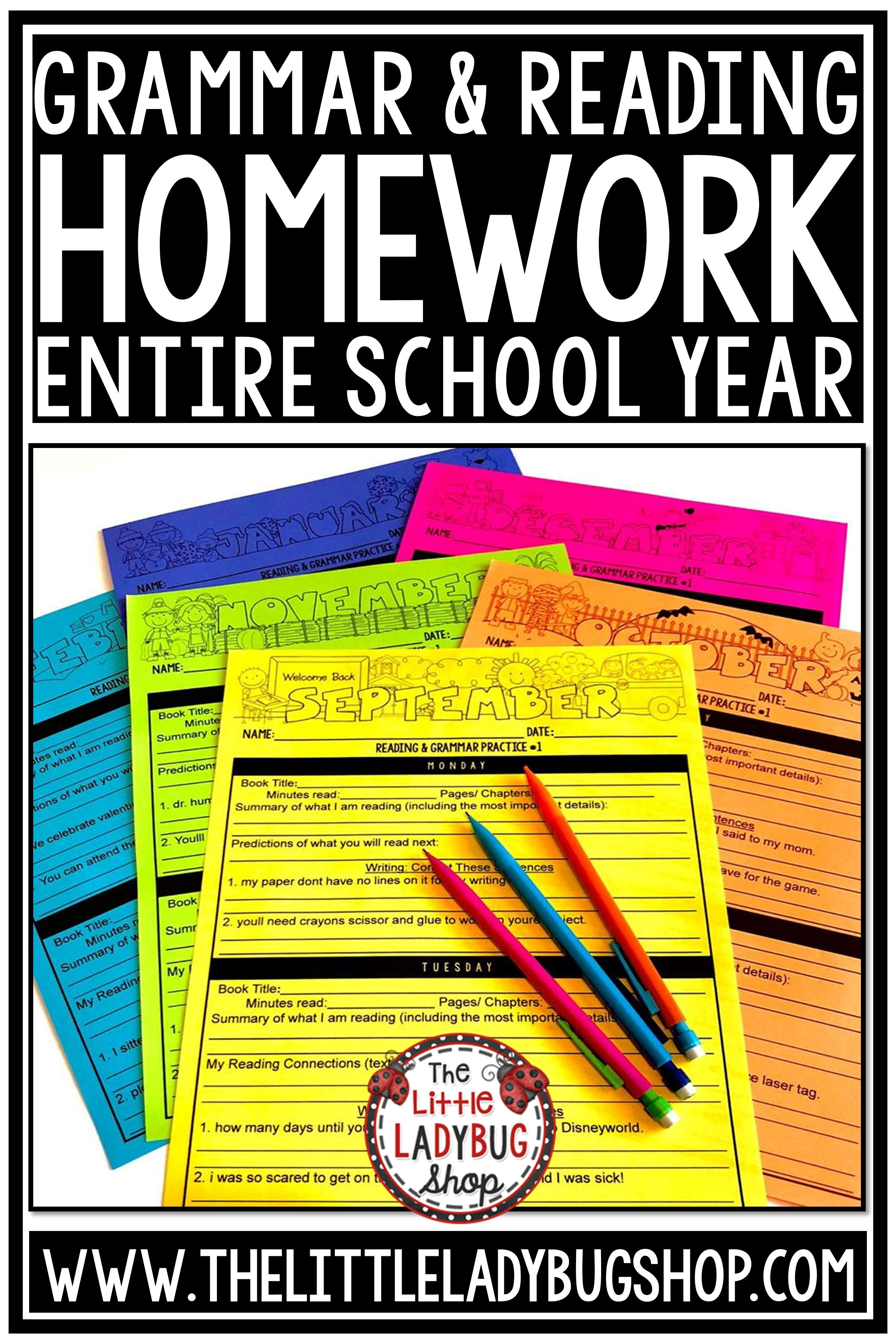 3rd Grade Reading Homework Packet Third Grade Math