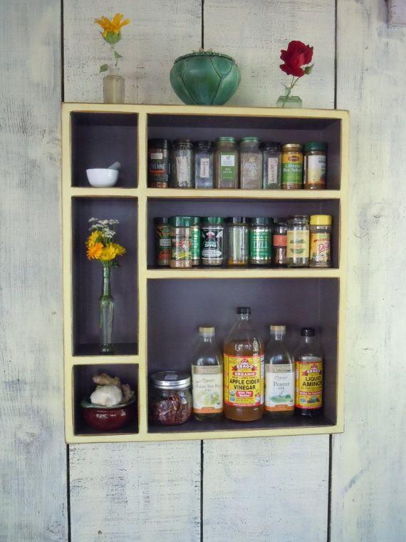 Meuble cuisine rangement armoire-rustique - meuble rustique fait à - comment accrocher un meuble de cuisine au mur