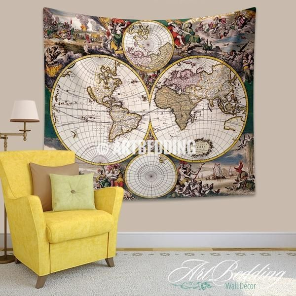 Old world map wall tapestry historical world map wall hanging old world map wall tapestry historical world map wall hanging antique old map wall decor vintage map wall art print map wall decor vintage maps and gumiabroncs Images