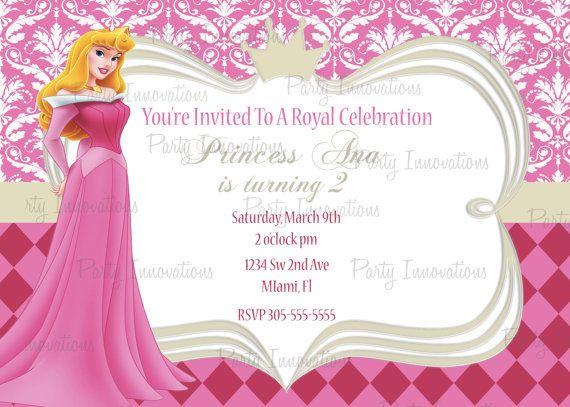 Aurora Invitation Sleeping Beauty Invitation Disney Princess – Sleeping Beauty Party Invitations