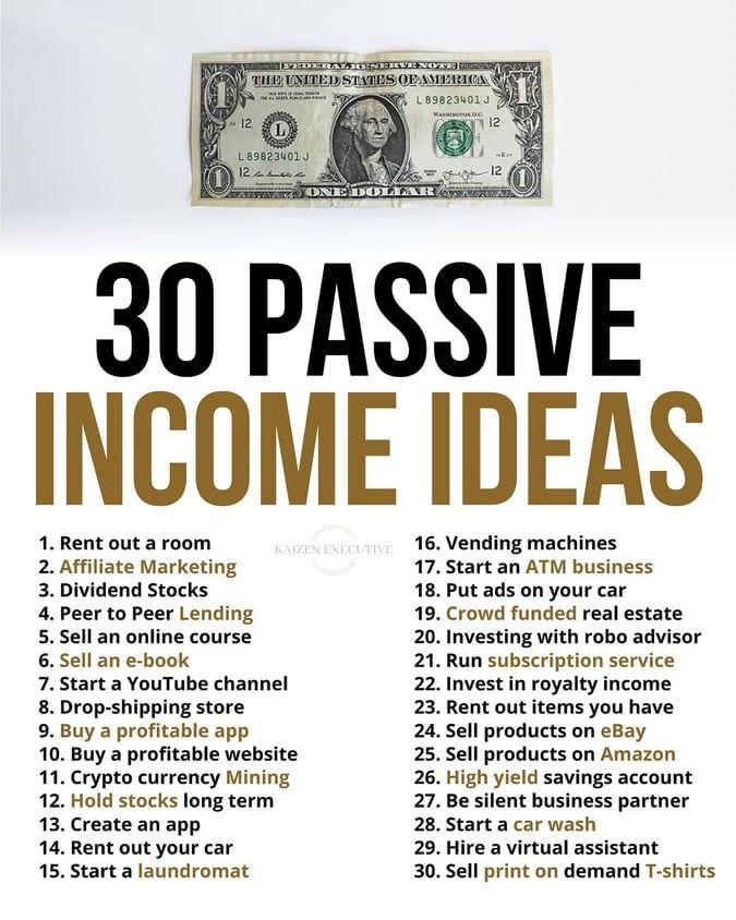 PASSIVE INCOME IDEAS!