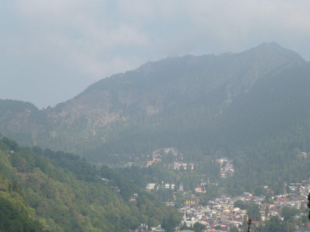 View From Hotel Nainital Lake Uttrakhand Or Uttaranchal India
