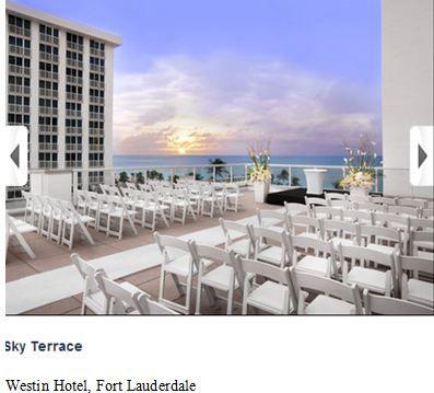 Westin Hotel Ft Lauderdale Sky Terrace Florida Wedding Venues Fort Lauderdale Beach Resort Wedding Venues Beach