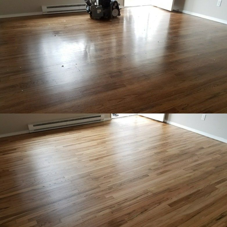 After A Property Management Company Removed Carpet They Discoverd 2 1 4 Red Oak Hardwood Throughout This Duplex With A Limited Budget They Ask Red Oak Hardwood