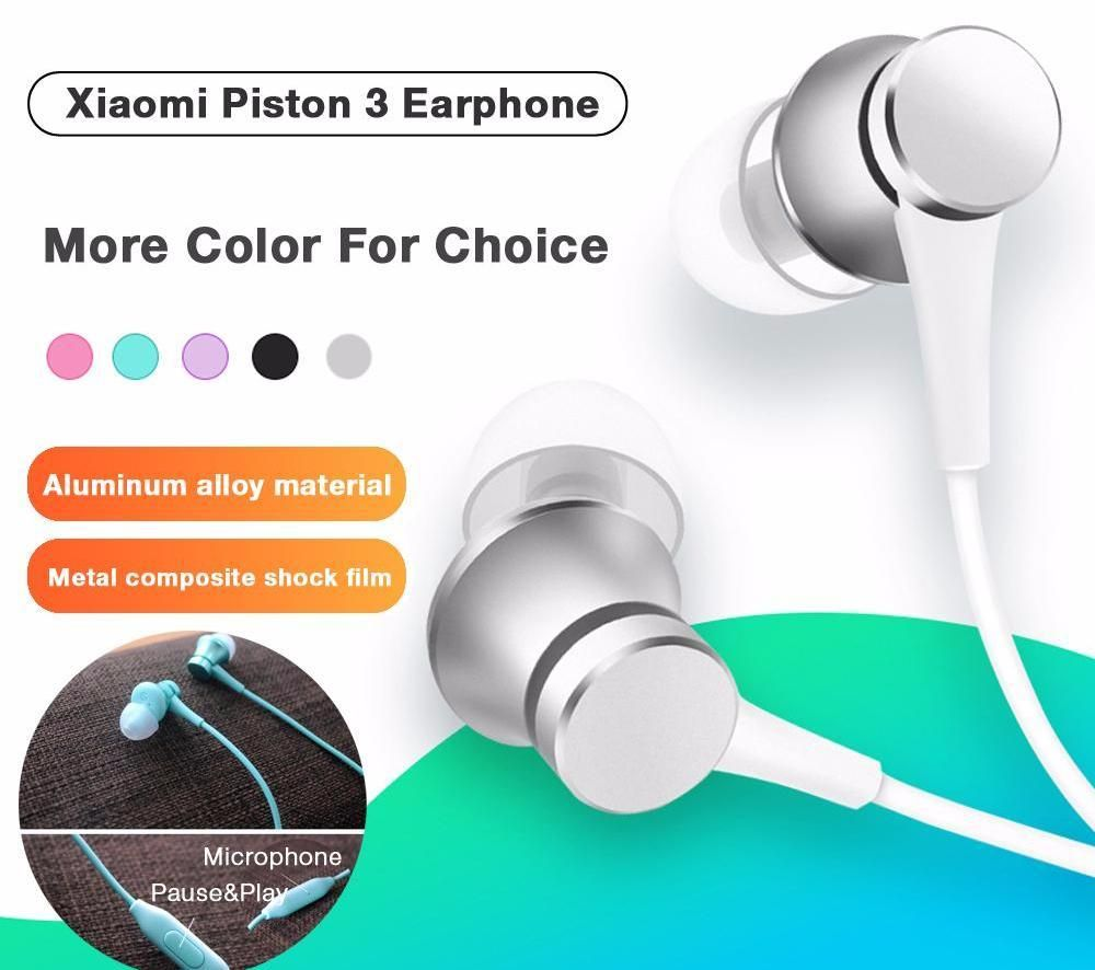 Jual Murah Xiaomi Earphone Piston 3 Terbaru 2018 Colorful Edition Original Hitam Headphones Headset Youth 35mm 3rd Bass New Version