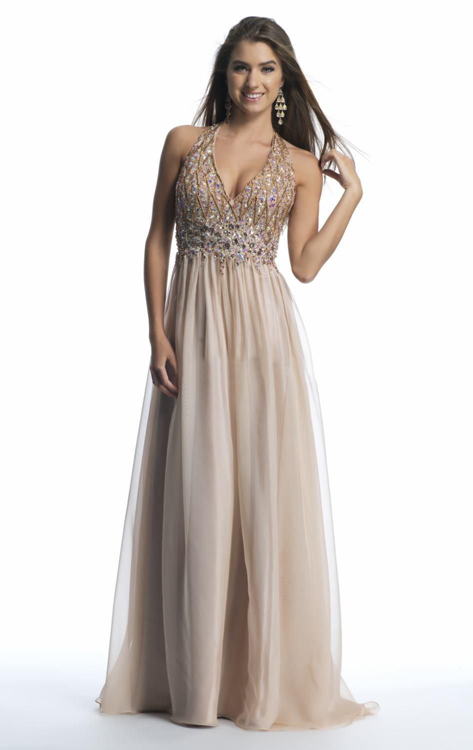 Click to buy ucuc real image luxury beads crystal sexy backless prom