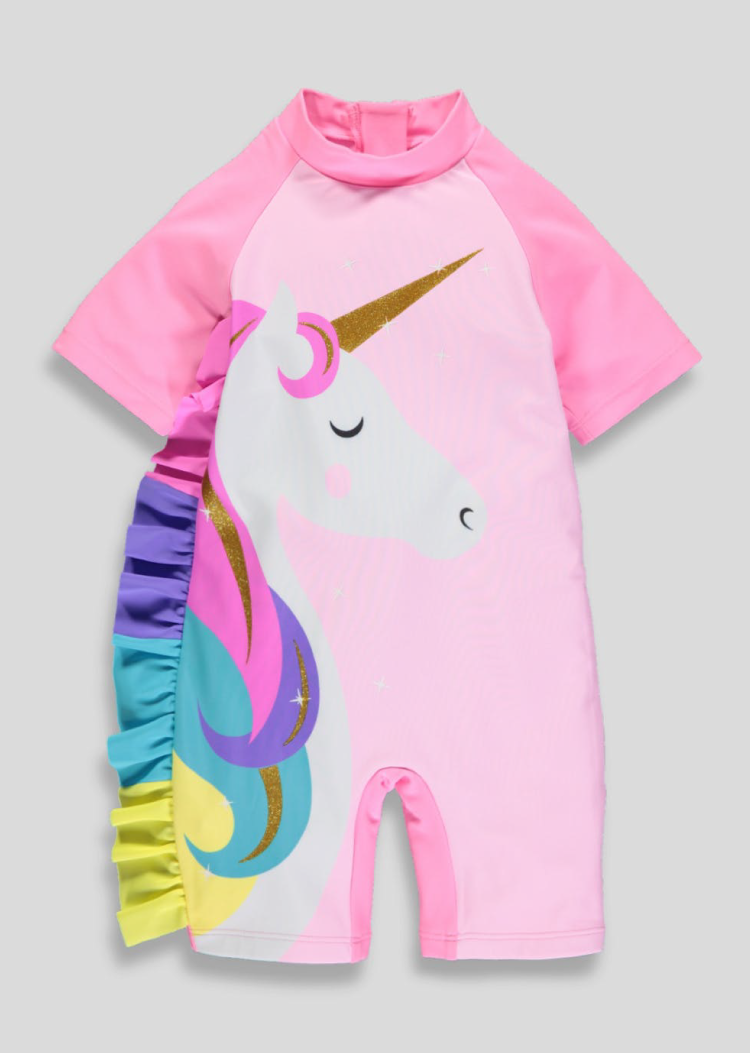 Girls Unicorn Surf Suit From £10 @ Matalan | Surf suit, Kid