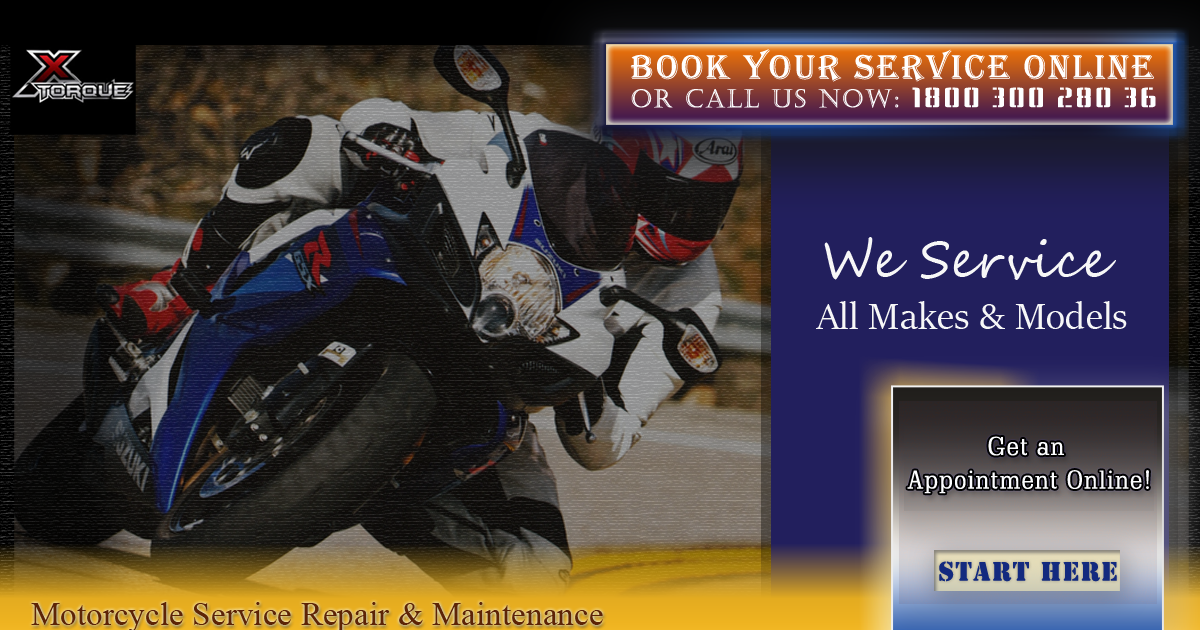 Service your Motorcycle Today!  Get an appointment now Call us now: 1800 300 280 36 #MotorcycleServiceBangalore #Motorcycle #XTorque #Bangalore