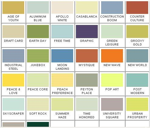 California Paints 32 Historically Based Colors For 1960s And 70s Homes