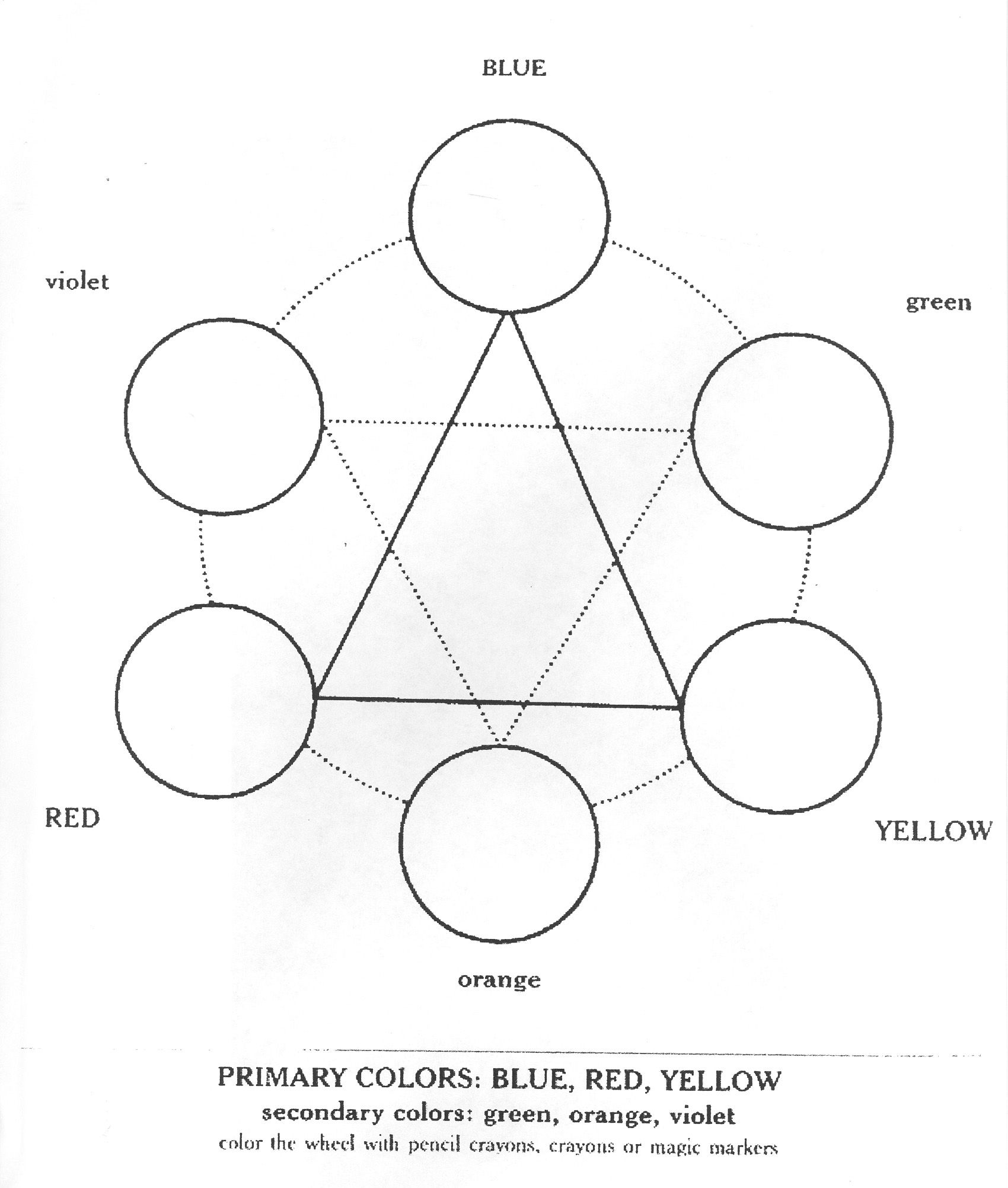 Image Detail For Color Wheel Colouring Pages With Images
