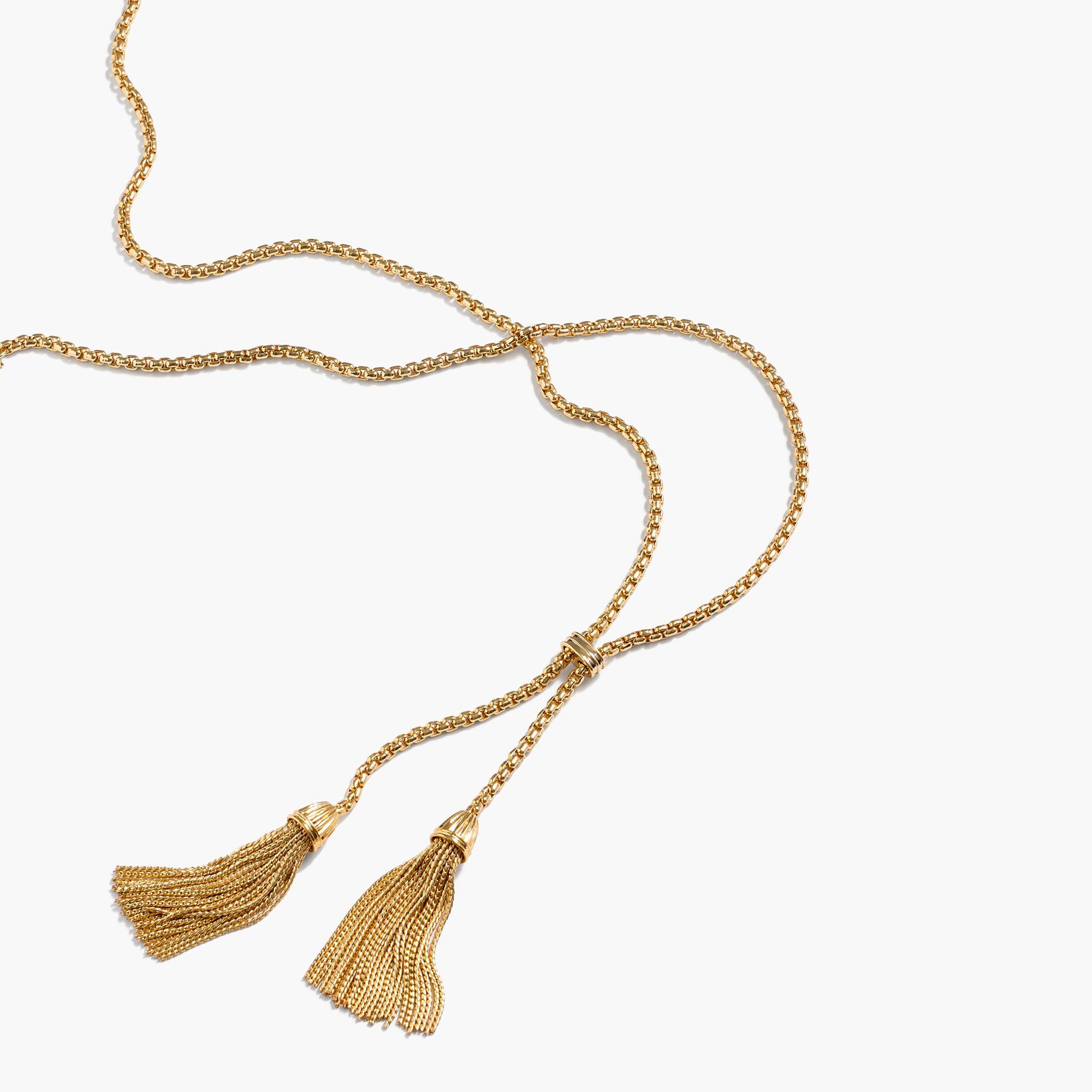 Jcrew tassel chain necklace yes please pinterest