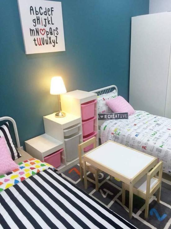35 dekorasi kamar anak warna pink pastel dan biru bergaya ...