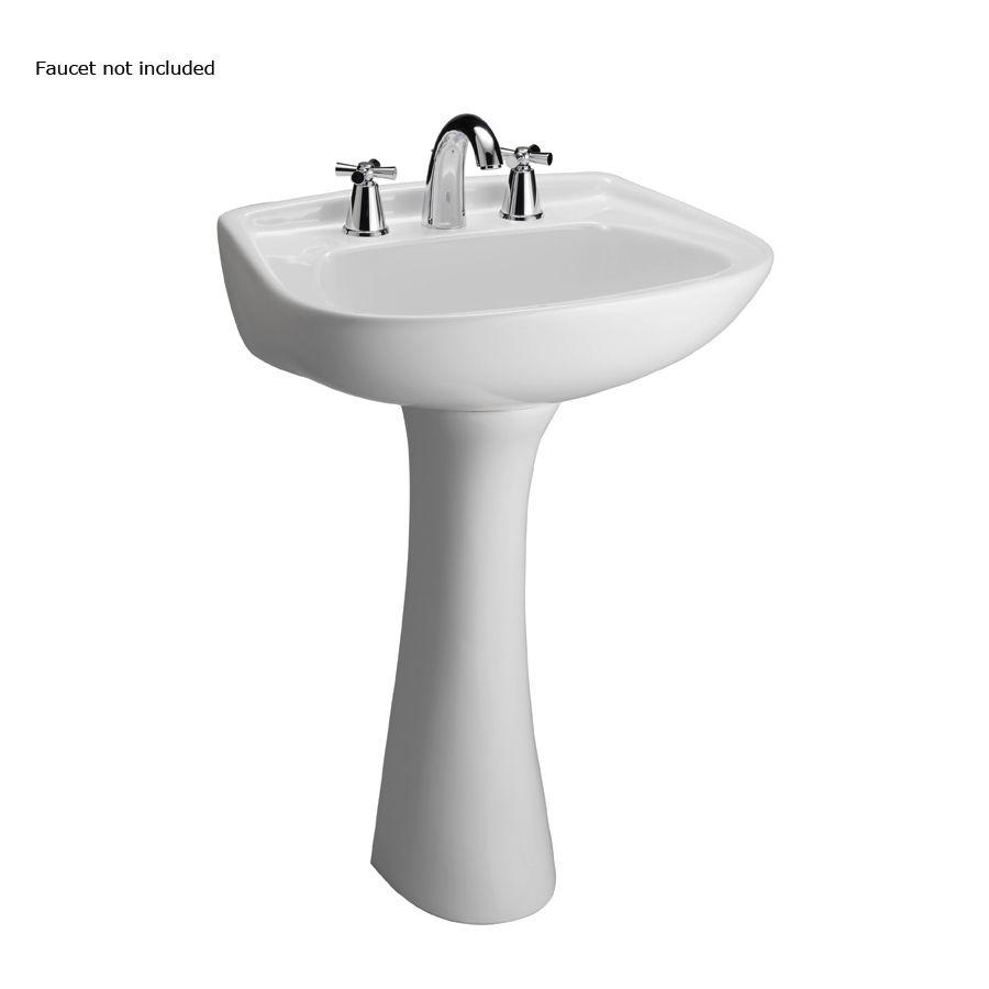 Shop Barclay Hartford 34 12 In H White Vitreous China Pedestal Sink