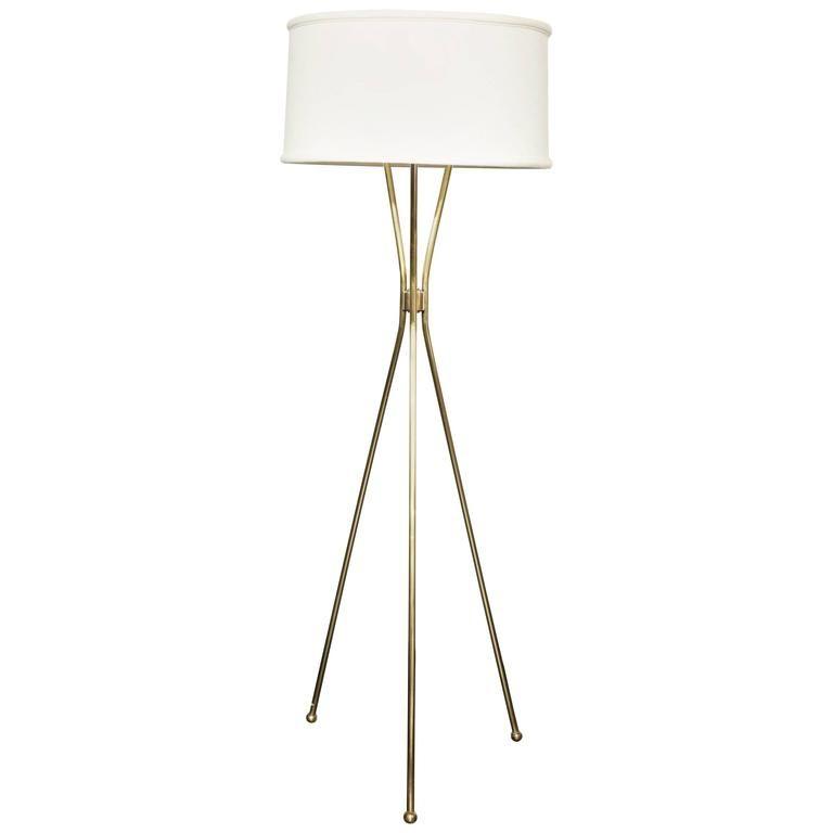 1stdibs Brass Polished Tripod French Floor Lamp In 2020 French Floor Lamp Brass Tripod Floor Lamp Italian Floor Lamp