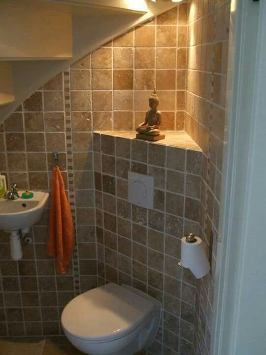 Pin by jacqueline r on home pinterest toilet for Bathroom designs under stairs
