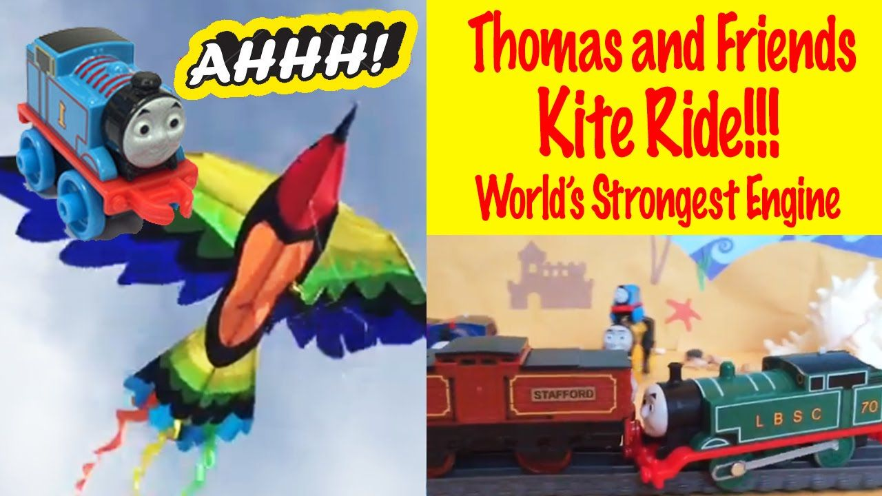 Thomas And Friends World S Strongest Engine Losing Engine Falls Onto A Runaway Kite Thomas And Friends Thomas Thomas The Train