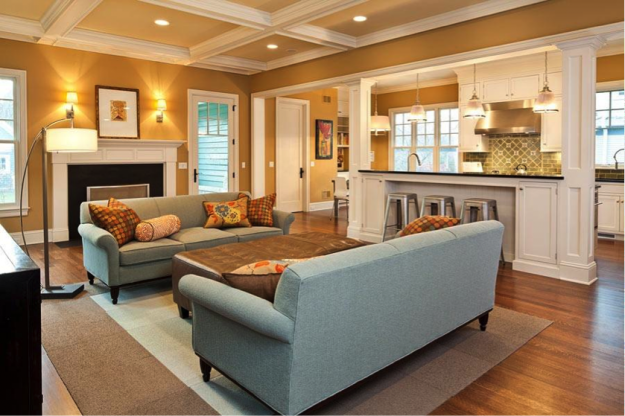 Ordinaire Open Living Room Gold Paint Colors   Google Search