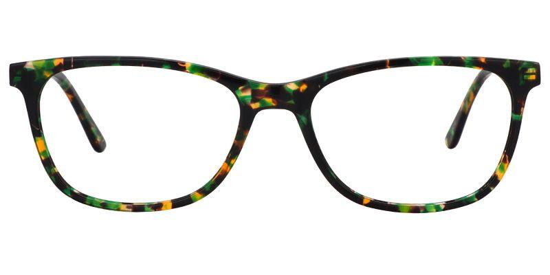13faf45456a Womens Eyeglasses Teresa Rectangle Green Floral Glasses Plastic Frame 0345- 01